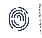 fingerprint icon. isolated...