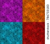 set of four bright colorful... | Shutterstock .eps vector #786733183