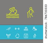 exercise icons set with scales  ...