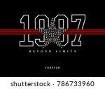 varsity graphic for t shirt | Shutterstock . vector #786733960