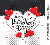 happy valentines day template... | Shutterstock .eps vector #786737818