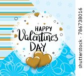 happy valentines day template...   Shutterstock .eps vector #786738016
