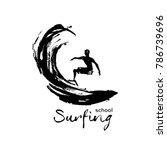 logo for school surfing. surfer ...   Shutterstock .eps vector #786739696