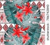 watercolor seamless pattern... | Shutterstock . vector #786742840