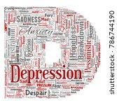 vector conceptual depression or ...   Shutterstock .eps vector #786744190