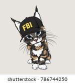 Portrait Of A Cat In The Cap O...