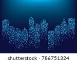 city skyline backgroud... | Shutterstock .eps vector #786751324