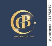 gb  logo design template.... | Shutterstock .eps vector #786752950