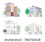 illustration of the house | Shutterstock .eps vector #786763618