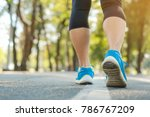 young fitness woman legs... | Shutterstock . vector #786767209