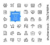 insurance   outline icon set ... | Shutterstock .eps vector #786769894