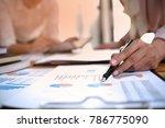 business people meeting design... | Shutterstock . vector #786775090