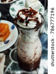 ice chocolate on table | Shutterstock . vector #786777196