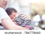 cute asian newborn baby girl... | Shutterstock . vector #786778660