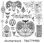 design set with graphic... | Shutterstock .eps vector #786779980