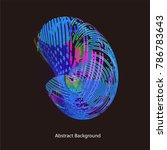 abstract vector background dot... | Shutterstock .eps vector #786783643
