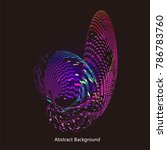 abstract vector background dot... | Shutterstock .eps vector #786783760