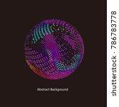abstract vector background dot...   Shutterstock .eps vector #786783778