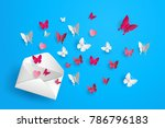 illustration of love and... | Shutterstock .eps vector #786796183