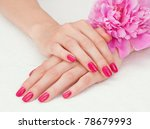 woman beautiful hands with... | Shutterstock . vector #78679993