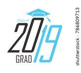 class of 2019 congratulations... | Shutterstock .eps vector #786809713