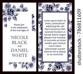 vintage delicate invitation... | Shutterstock . vector #786811609