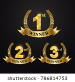 award golden label of first ... | Shutterstock .eps vector #786814753
