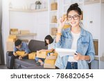 start up small business... | Shutterstock . vector #786820654