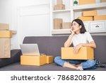 start up small business... | Shutterstock . vector #786820876