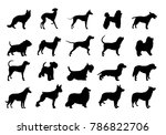 collection of dogs silhouette... | Shutterstock .eps vector #786822706