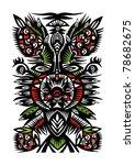 black pattern of flowers ... | Shutterstock .eps vector #78682675
