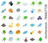 disaster icons set. isometric...   Shutterstock .eps vector #786827728
