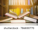 in the library there are old... | Shutterstock . vector #786830770