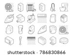 home appliances icon set.... | Shutterstock .eps vector #786830866