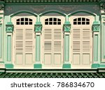traditional vintage straits... | Shutterstock . vector #786834670