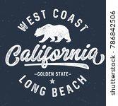 west coast california   tee... | Shutterstock .eps vector #786842506