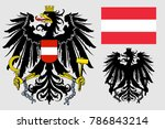 the coat of arms of austria.... | Shutterstock .eps vector #786843214