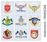 football college logo football...   Shutterstock .eps vector #786846268