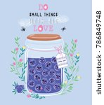 vector illustration of jar of... | Shutterstock .eps vector #786849748