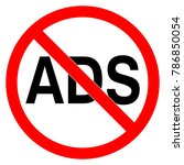 no ads road forbidden sign... | Shutterstock .eps vector #786850054
