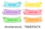 special offer sale flat linear...   Shutterstock .eps vector #786855676