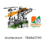 indian republic day concept... | Shutterstock .eps vector #786863740
