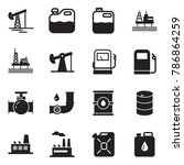 solid black vector icon set  ... | Shutterstock .eps vector #786864259