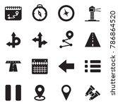 solid black vector icon set  ... | Shutterstock .eps vector #786864520