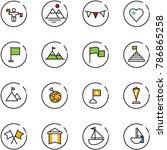 line vector icon set   traffic... | Shutterstock .eps vector #786865258