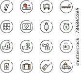 line vector icon set   suitcase ... | Shutterstock .eps vector #786865369