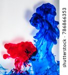 acrylic colors and ink in water.... | Shutterstock . vector #786866353