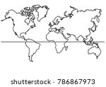 continuous line drawing   map...   Shutterstock .eps vector #786867973
