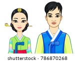 animation portrait of young... | Shutterstock .eps vector #786870268