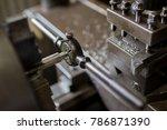 screwed by lathe | Shutterstock . vector #786871390